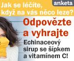 Jak se l���te, kdy� na v�s n�co leze? Odpov�zte a vyhrajte Echinaceov� sirup se ��pkem a vitam�nem C!