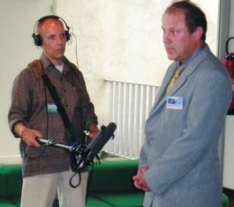 Jiří Fiala (vpravo) byl poslední dny v ostrém zájmu médií.