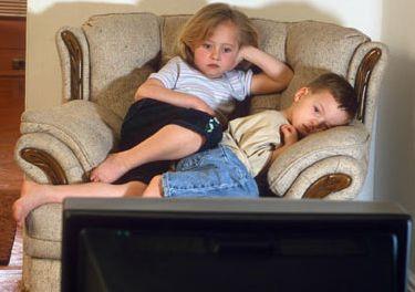 Děti u televize