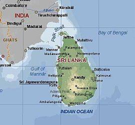 Srí Lanku najdeme na jihovýchod od Indie