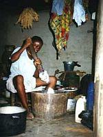 Výroba maniokové mouky
