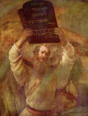 Rembrandt�v Moj�� s deskami Z�kona