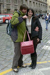 Míša Nováková s přítelem