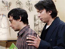 Pavel Liška (vlevo) s filmovým Přítelem