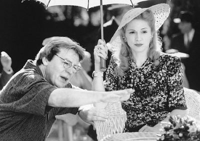 Alan Perker při natáčení filmu Evita.