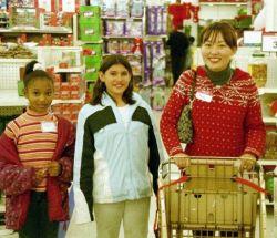 Děti v obchodě