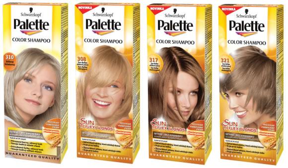 palette šampon na vlasy
