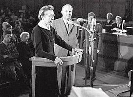 Dr. Milada Horáková během vykonstruovaného procesu
