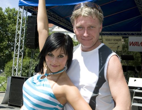 Michal Dlouh� a Michaela Gat�kov�, jeho partnerka ze StarDance