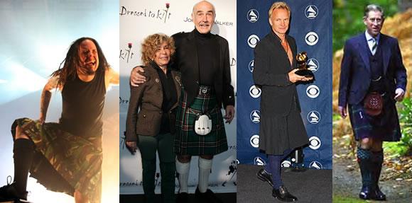 96029fe96d7e Skotská klasika – kilt neubírá nic na důstojnosti princi Charlesovi ani  herci Seanu Connerymu. Reklama. Ale nejen hvězdy nosí sukně.