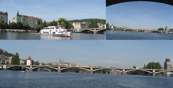Z lodi se naskýtá nádherný výhled na historické centrum Prahy