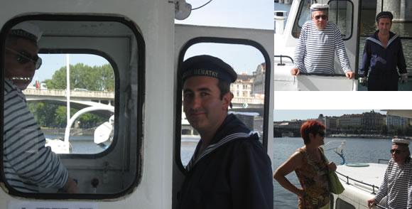 Posádka Blanice kapitán Vítek Krupka a lodník Said Zamanov