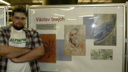 Václav Šajch u svých prací