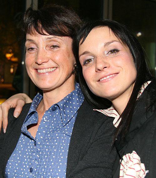 Míša s maminkou.