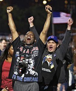 Nadšení přívrženci Baracka Obamy