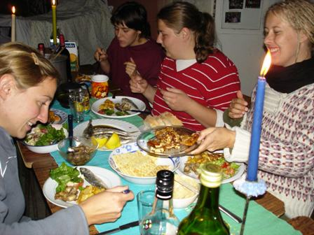Společné večeře na privátě s ostatními studenty ze zahraničí byly výborným zpestřením pobytu.