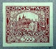První známka samostetného Československa