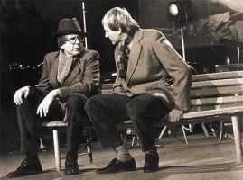 ...a s Luďkem Sobotou (vpravo)