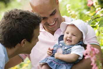 Homosexuální pár s dítětem