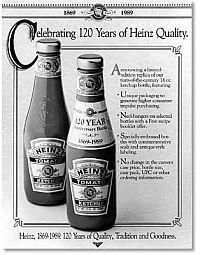 Historická etiketa kečupu