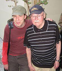 Lubomír Lipský s vnukem Martinem Jandourkem