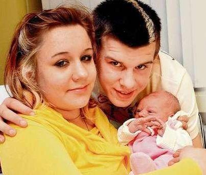Kathrin, Christian, a jejich dcera Selina