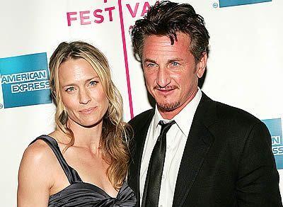Sean Penn se manželkou Robin Wright-Pennovou