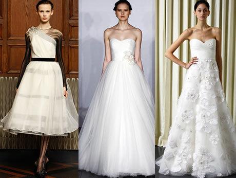 Biedermayerovské svatební šaty