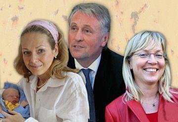 Topolánkova dosavadní trojka - Lucie s Nicolasem, Mirek, Pavla