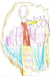 Kresba čtyřletého dítěte