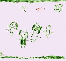Kresba pětiletého dítěte