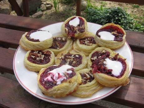 malinové koláče