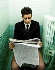 Muž na WC