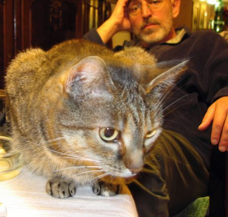 Ivo Šmoldas a kočka Minda