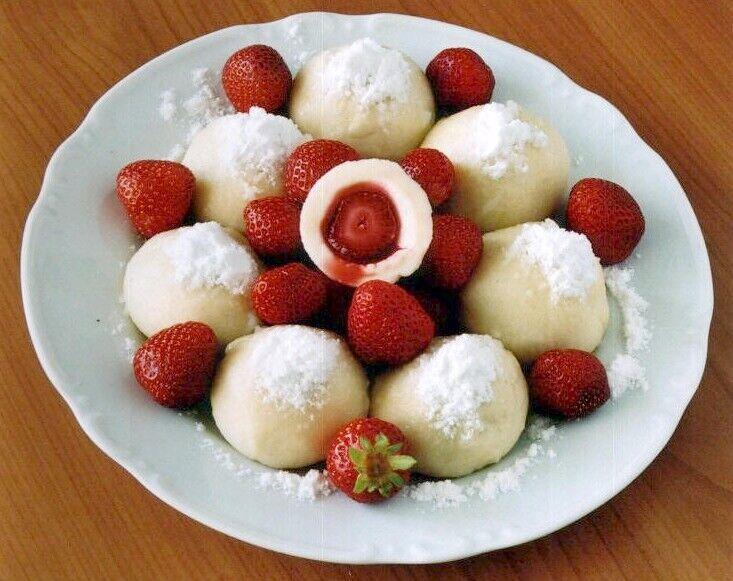 jahodov� tvarohov� knedl�ky
