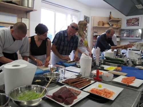 Prostředí Pražského kulinářského institutu při kurzu vaření Sushi