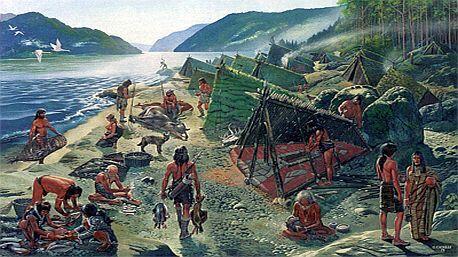 Kromaňonská vesnice