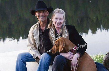 Patrick Swayze s manželkou