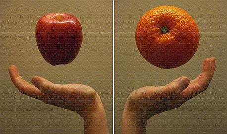Jablko, nebo pomeranč?