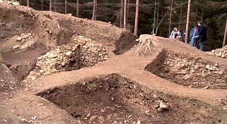 Odkryté trosky hradu Rumberk