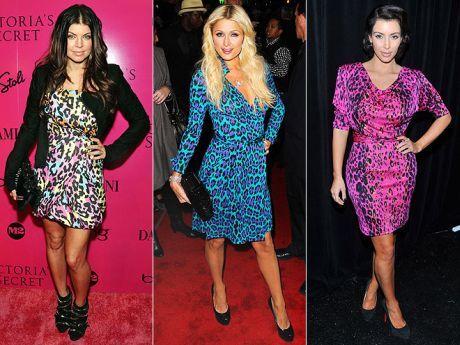 barevné leopardí šaty