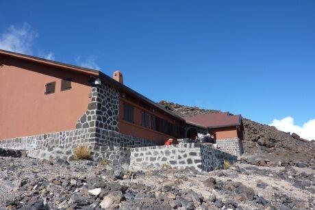 Chata na Pico del Teide, 3260 metrů