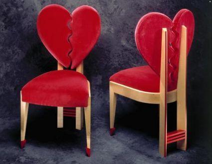 valentýnské židle