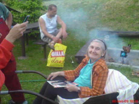 babi v kolečku