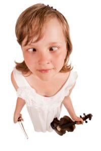 malá houslistka