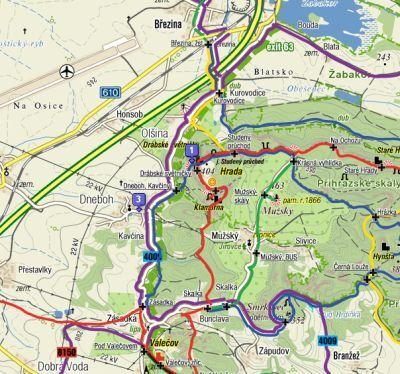 mapa Drábské světničky