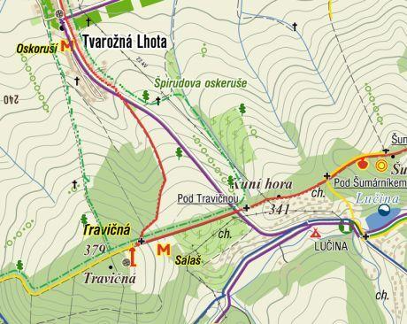 mapa rozhledna
