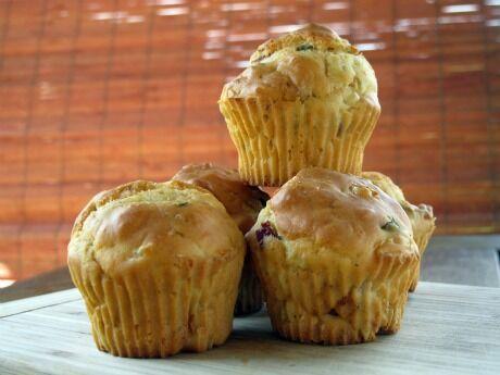 muffiny s uzeným masem