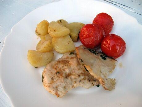 ku�ec� maso pe�en� s brambory
