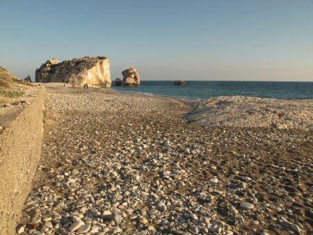 Kypr Afroditina pláž